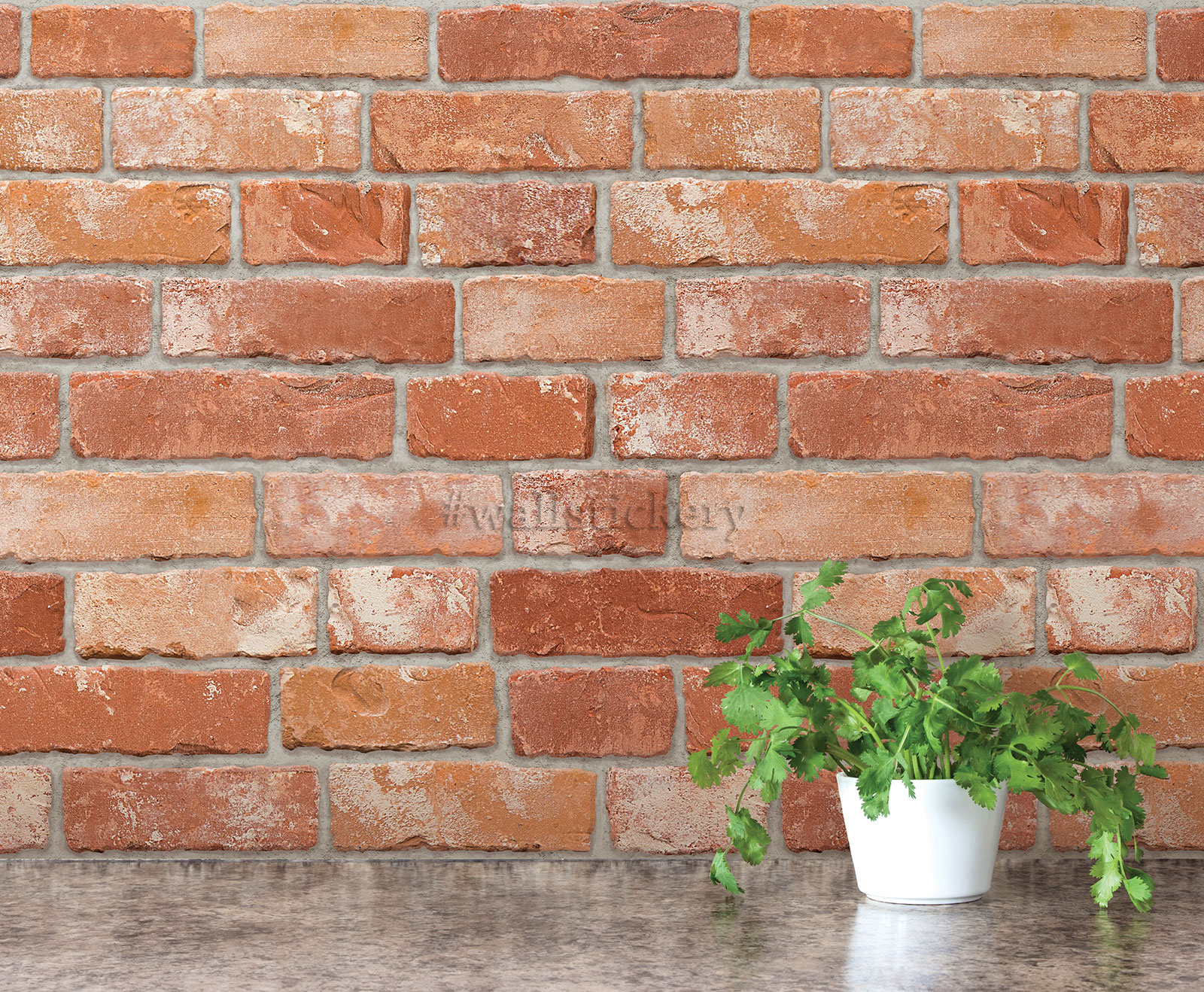 Brick pattern contact paper prepasted wallpaper wall for Wallpaper for walls