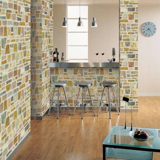 Self Adhesive Wall Paper shard brick contact paper peel and stick wallpaper