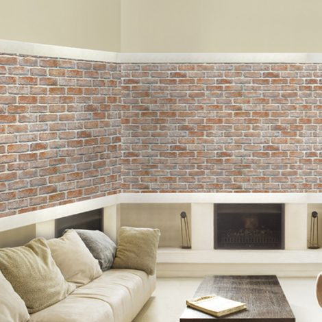 Weathered Brick Contact Paper Peel and Stick Wallpaper HWP-013 Application