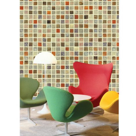 Mosaic Tile Pattern Contact Paper Peel and Stick Wallpaper HWP-021 Display