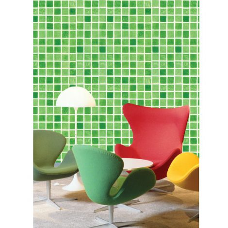 Green Tile Contact Paper Peel and Stick Wallpaper HWP-033 Application