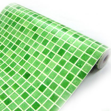 Green Tile Contact Paper Peel and Stick Wallpaper HWP-033 Roll