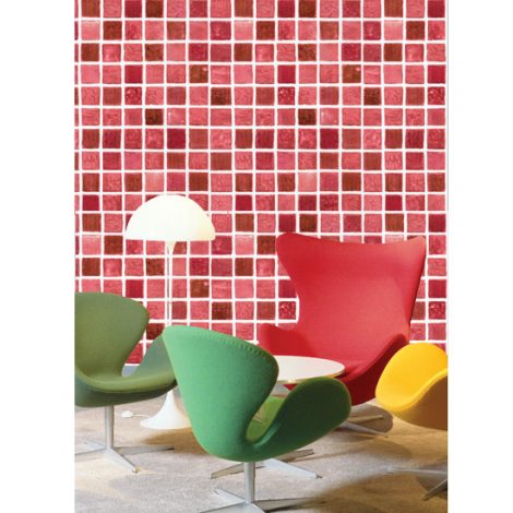 Red Tile Contact Paper Peel and Stick Wallpaper HWP-036 Application