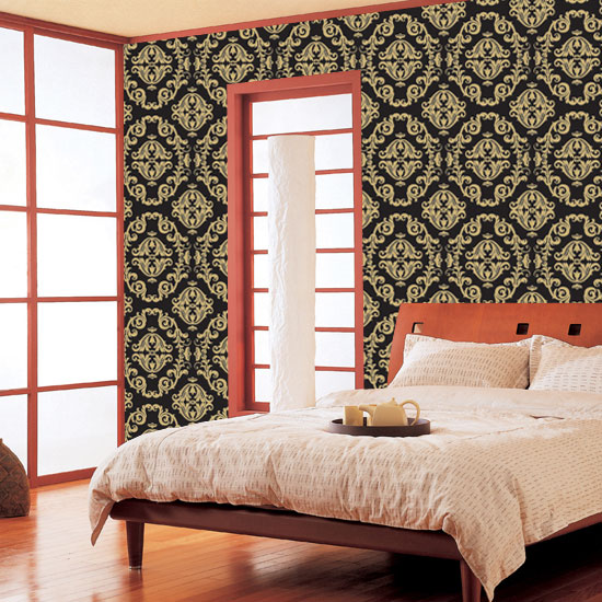 Gold Black Contact Paper Peel and Stick Wallpaper HWP-043 Application