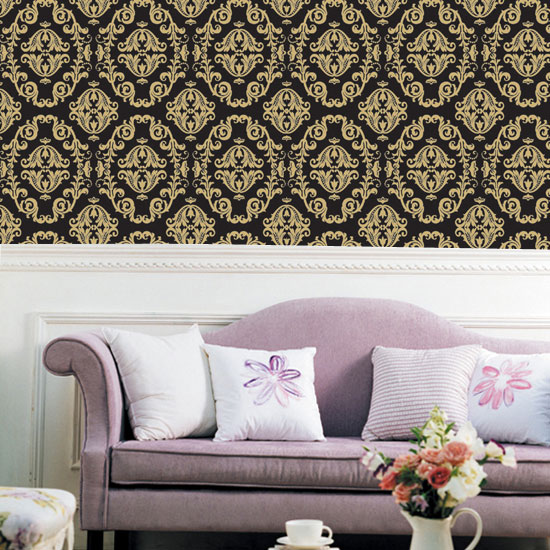 Gold Black Contact Paper Peel And Stick Wallpaper