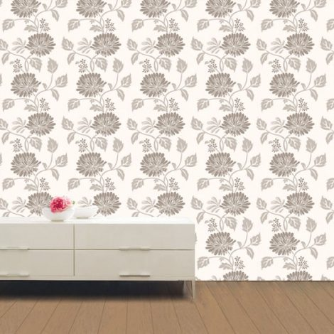 Sepia Flower Contact Paper Peel and Stick Wallpaper HWP-055 Application