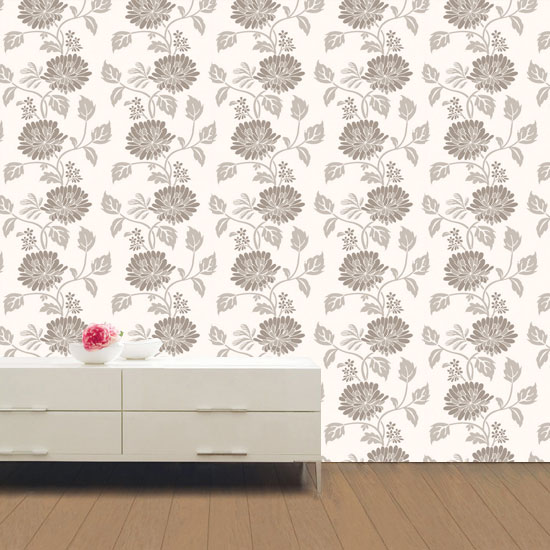 Sepia flower contact paper peel and stick wallpaper Floral peel and stick wallpaper