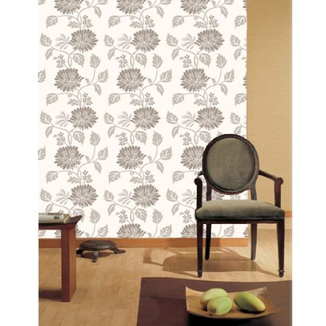 Sepia Flower Contact Paper Peel and Stick Wallpaper HWP-055 Display