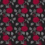 Red Flower Black Contact Paper Peel and Stick Wallpaper HWP-058 Pattern
