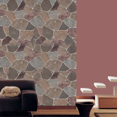 Large Fragment Tile Pattern Contact Paper Peel and Stick Wallpaper HWP-068 Application