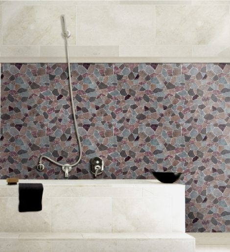 Large Fragment Tile Pattern Contact Paper Peel and Stick Wallpaper HWP-068 Sample