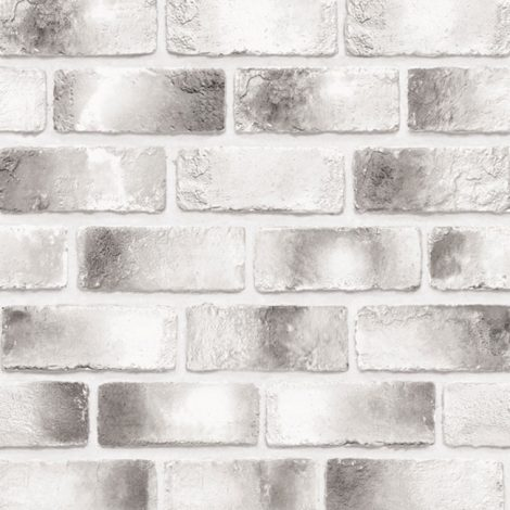 Modern Black Brick Contact Paper Peel and Stick Wallpaper Wall Stickers Detail