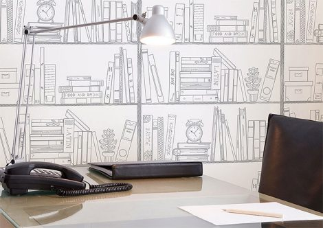 Study Room Contact Paper Peel and Stick Wallpaper Display