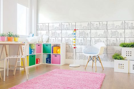 Study Room Contact Paper Peel and Stick Wallpaper Application