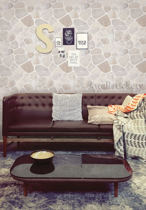 Stone Brick Contact Paper Peel Stick Wallpaper Wall Stickers display