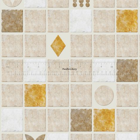 Cookie Tile Contact Paper Peel and Stick Wallpaper Pattern Size