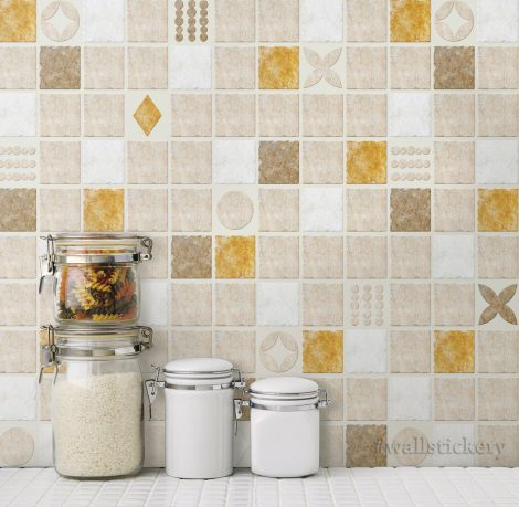 Cookie Tile Contact Paper Peel and Stick Wallpaper Display 1