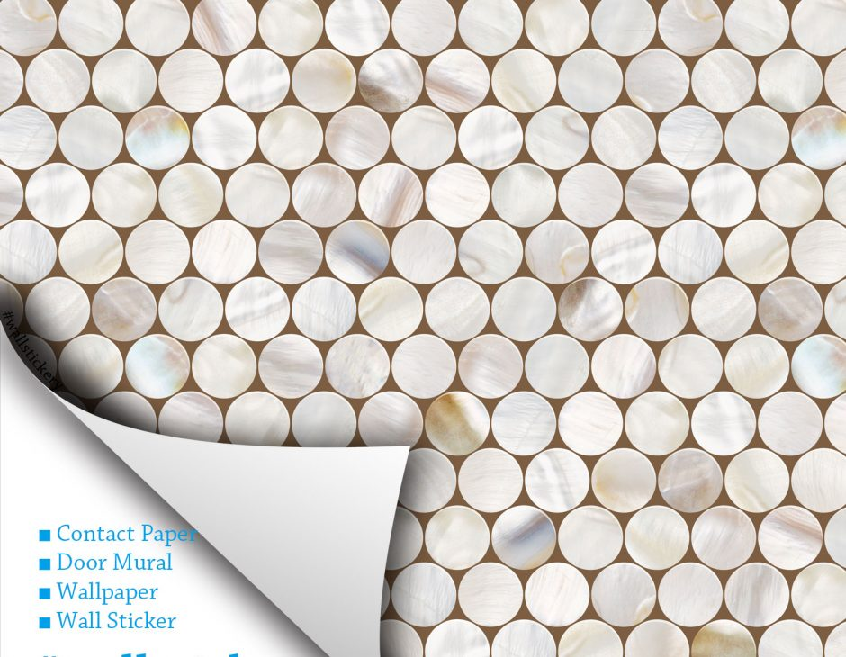 Cell Tile Contact Paper Peel And Stick Wallpaper