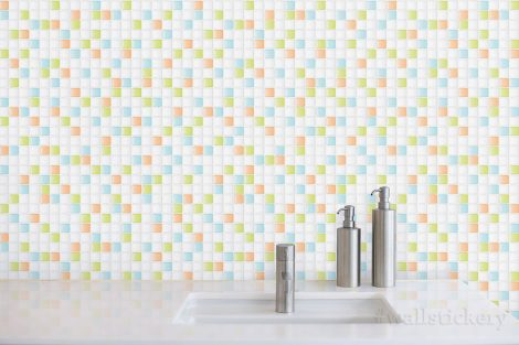 Mix Candy Tile Contact Paper Peel and Stick Wallpaper Self Adhesive Dispaly 2