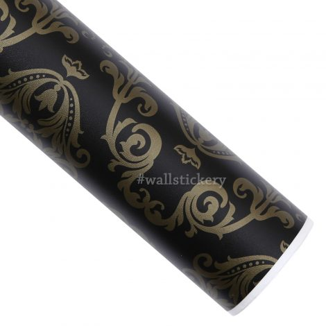 Gold Black Contact Paper Peel and Stick Wallpaper HWP-043 Roll