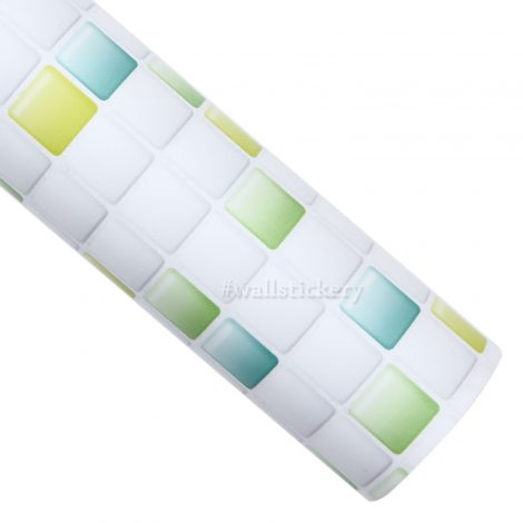 Green Candy Tile Contact Paper Peel and Stick Wallpaper Roll
