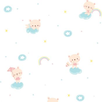 Starland Baby Bear Pattern Contact Paper Peel and Stick Wallpaper HWP-21488 Detail
