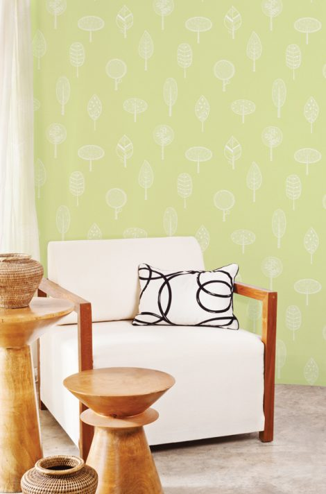 Forest Green Pattern Contact Paper Peel and Stick Wallpaper HWP-21490 Application 3