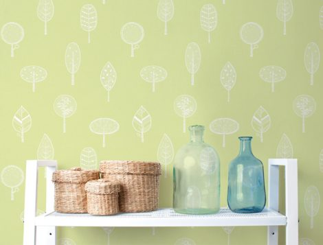 Forest Green Pattern Contact Paper Peel and Stick Wallpaper HWP-21490 Application 2