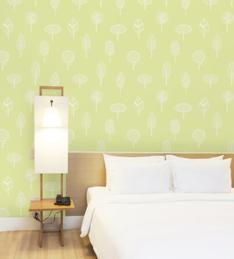 Forest Green Pattern Contact Paper Peel and Stick Wallpaper HWP-21490 Application