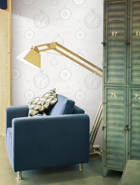 Modern Times Pattern Contact Paper Peel and Stick Wallpaper HWP-21491 Application 3