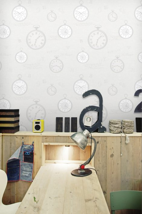 Modern Times Pattern Contact Paper Peel and Stick Wallpaper HWP-21491 Application 2