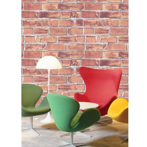 Red Brick Contact Paper Peel and Stick Wallpaper DBS-01 Decoration