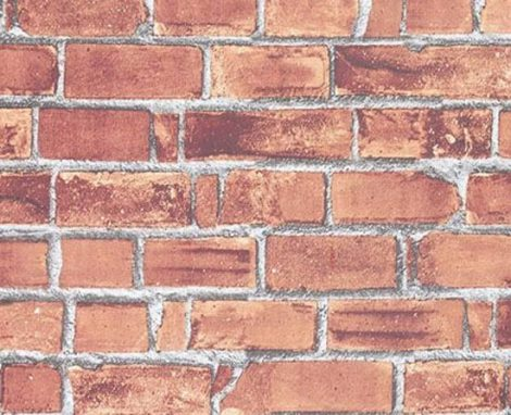 Red Brick Contact Paper Peel and Stick Wallpaper DBS-01 Pattern