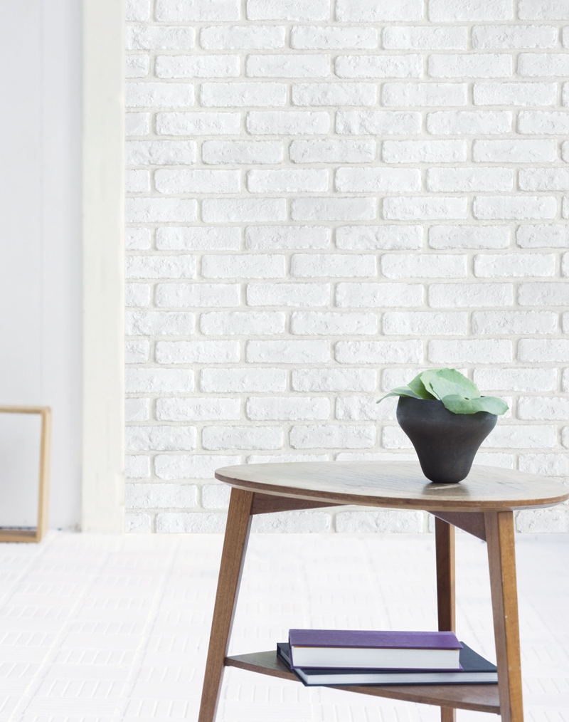 Soft White Brick Contact Paper Peel and Stick Wallpaper DBS-24 Display