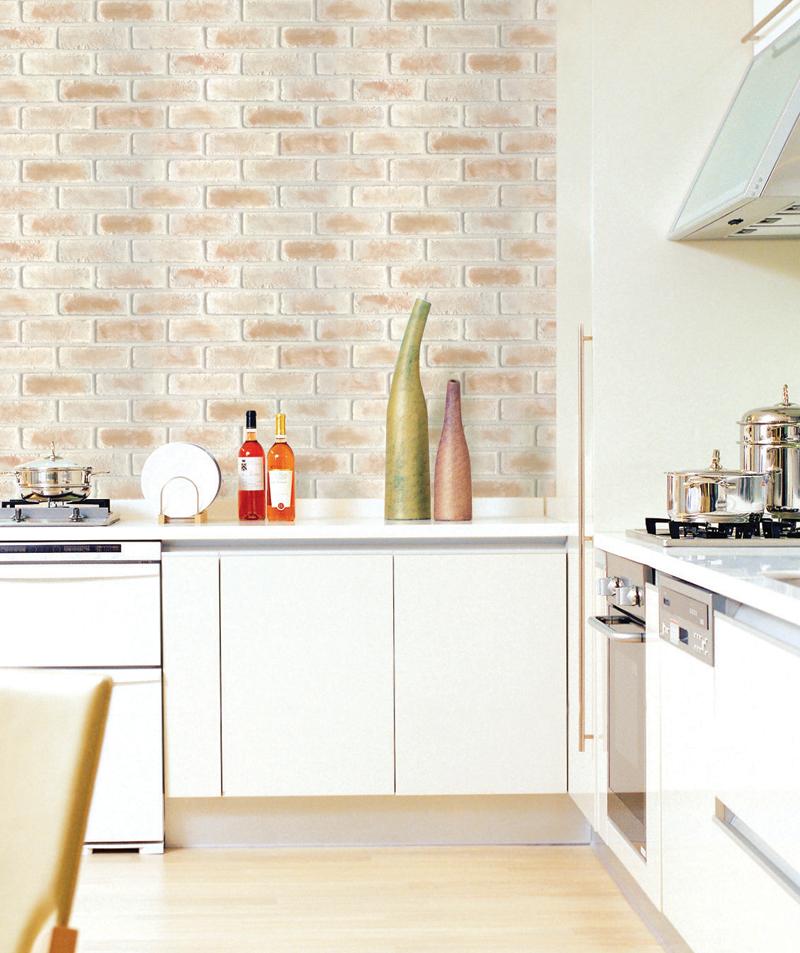 Sweet Brick Contact Paper Peel and Stick Wallpaper DBS-25 Decoration