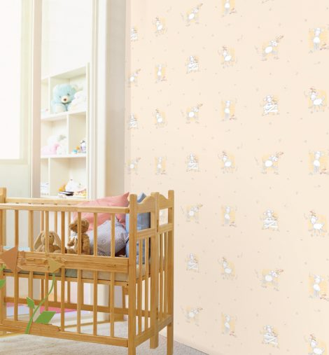 Little Sheep Beige Contact Paper Peel and Stick Wallpaper DPS-04 Application