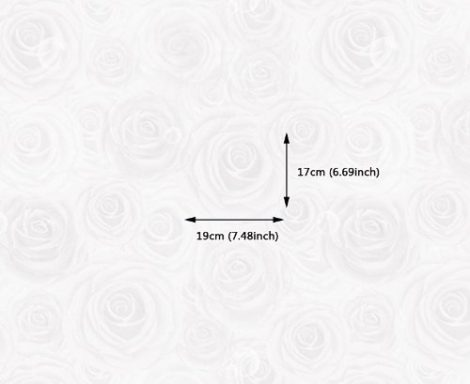 Rose White Contact Paper Peel and Stick Wallpaper DPS-10 Size