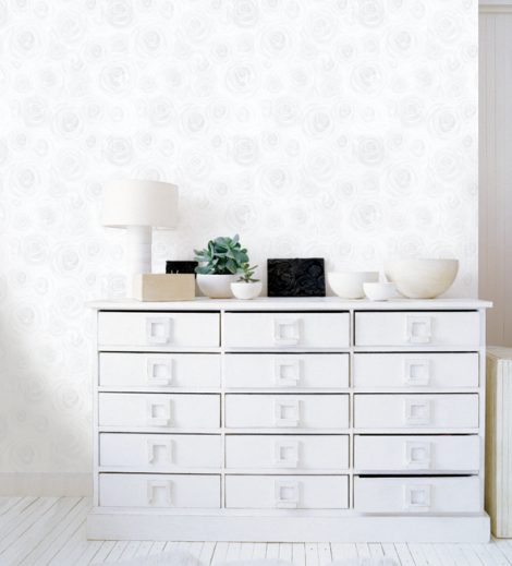 Rose White Contact Paper Peel and Stick Wallpaper DPS-10 Application