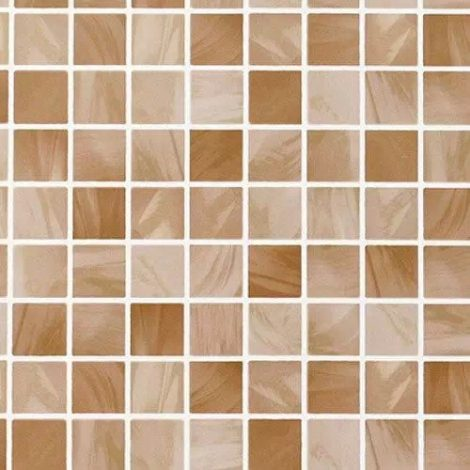 Brown Tile Pattern Contact Paper Peel and Stick Wallpaper DPS-12