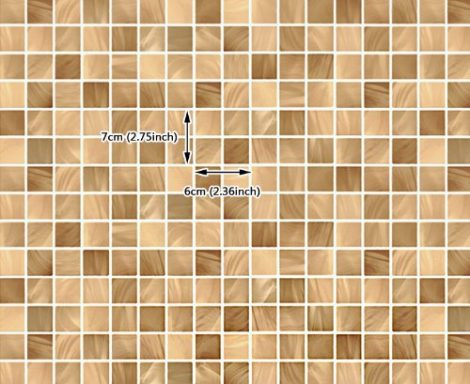 Brown Tile Pattern Contact Paper Peel and Stick Wallpaper DPS-12 Size