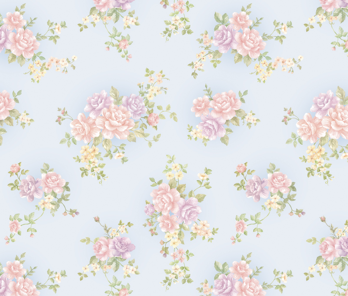 Rose Pattern Blue Contact Paper Peel And Stick Wallpaper