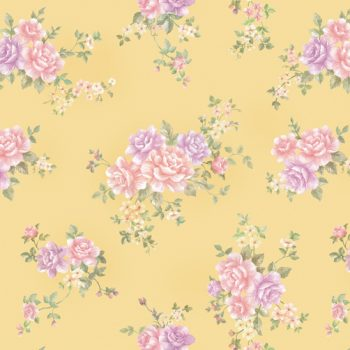 Rose Pattern Mustard Yellow Contact Paper Peel Stick Wallpaper DPS-21