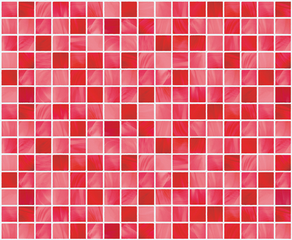 Red Tile Look Contact Paper L Stick