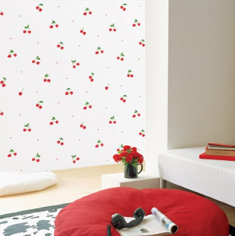 Cherry Pattern Contact Paper Self adhesive Peel Stick Wallpaper DPS-35 Sample