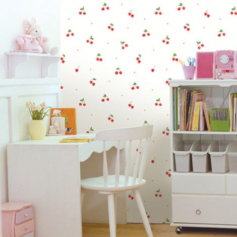 Cherry Pattern Contact Paper Self adhesive Peel Stick Wallpaper DPS-35 Display