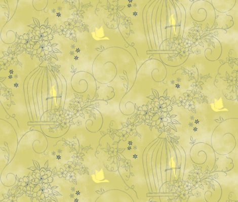 Sweet Garden Green Contact Paper Peel Stick Wallpaper DPS-36