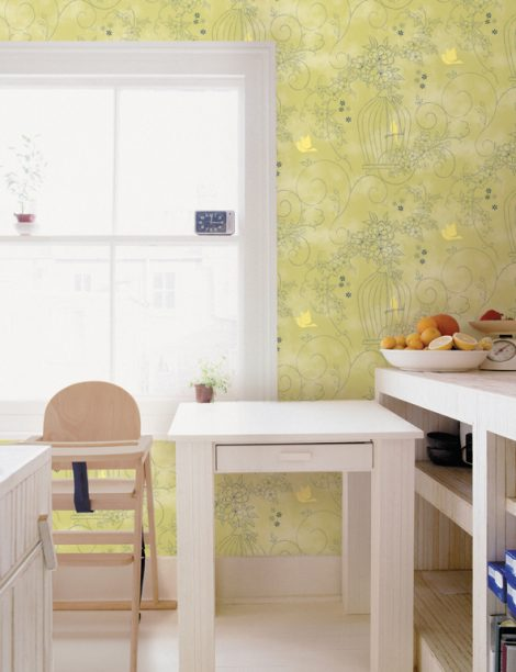 Sweet Garden Green Contact Paper Peel Stick Wallpaper DPS-36 Application