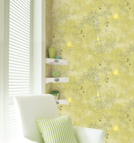Sweet Garden Green Contact Paper Peel Stick Wallpaper DPS-36 Decor