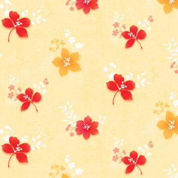 Red Yellow Flower Contact Paper Peel Stick Wallpaper DPS-38