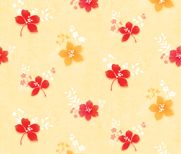 Red Yellow Flower Contact Paper L